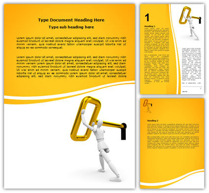 Turning Key Word Template, 07187, Consulting — PoweredTemplate.com