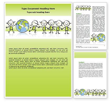 Kiddy Theme Word Template, 07189, Education & Training — PoweredTemplate.com