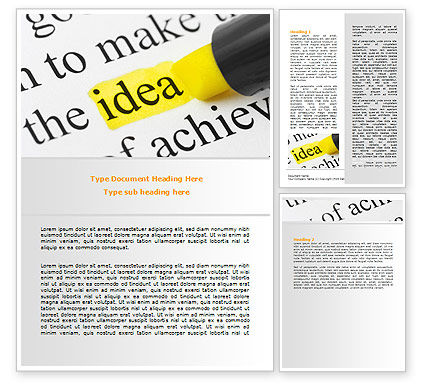 Highlighted Idea Word Template, 07196, Consulting — PoweredTemplate.com