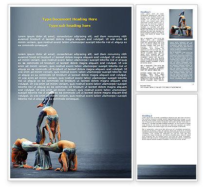 Art & Entertainment: Acrobats Word Template #07198