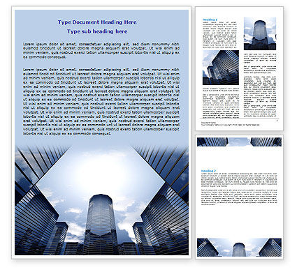Construction: Business Center In Downtown Word Template #07208