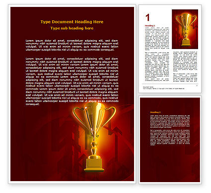 Business Concepts: Gold Cup Word Template #07215