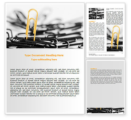Paper Clip Word Template, 07216, Business Concepts — PoweredTemplate.com