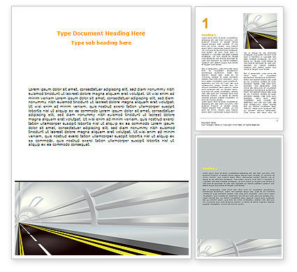 Construction: Tunnel Road Word Template #07222