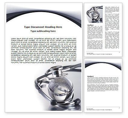 World Healing Word Template, 07228, Nature & Environment — PoweredTemplate.com