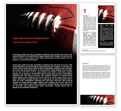 Sports: American Ball Lacing Word Template #07239