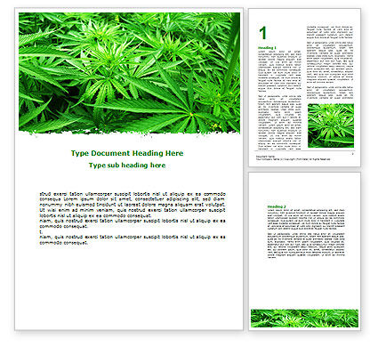 Cannabis Word Template, 07243, Legal — PoweredTemplate.com