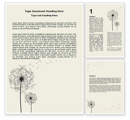 Abstract/Textures: Dandelion Clock Word Template #07245