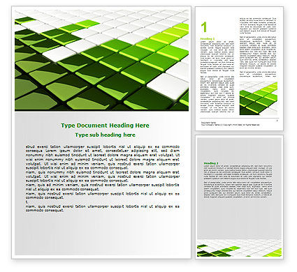 Abstract/Textures: Green Square Word Template #07250