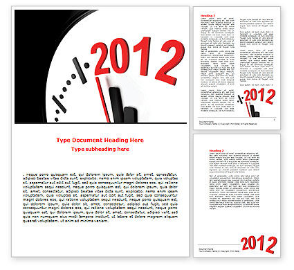 Time of 2012 Word Template, 07252, Holiday/Special Occasion — PoweredTemplate.com