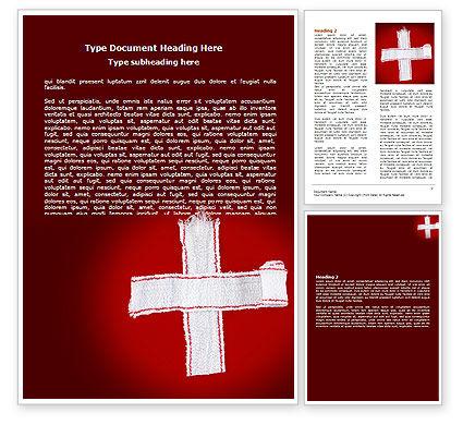 White Cross Word Template, 07253, Medical — PoweredTemplate.com