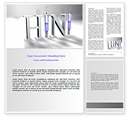H1N1 Word Template, 07262, Medical — PoweredTemplate.com