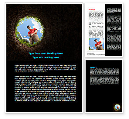 Sports: Golf Hit Word Template #07263