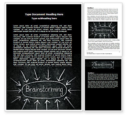 Business: Brainstorming Word Template #07268