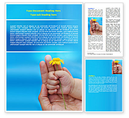Religious/Spiritual: Little Hand Word Template #07269