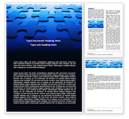 Blue Mind Breaker Word Template, 07272, Business — PoweredTemplate.com