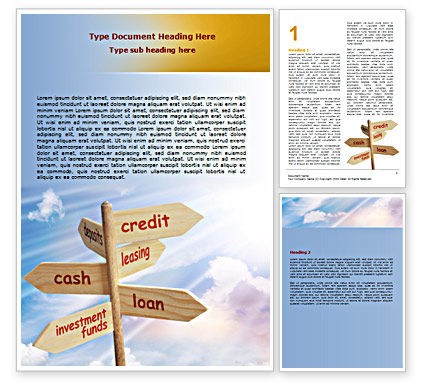 Financial/Accounting: Credits and Loans Word Template #07279