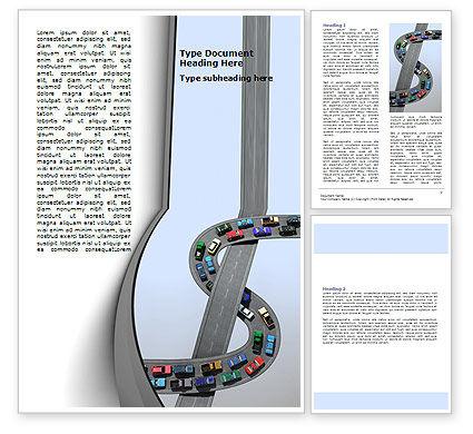 Cars/Transportation: Transportation Of Money Word Template #07281
