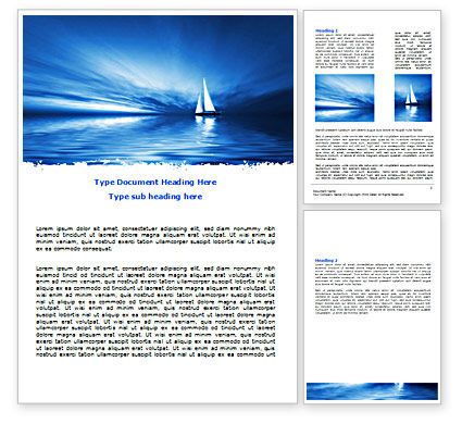 Nature & Environment: Blue Ocean Word Template #07283