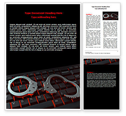 Computer Crimes Word Template, 07286, Legal — PoweredTemplate.com
