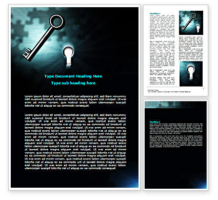 Key and Keyhole Word Template, 07287, Consulting — PoweredTemplate.com