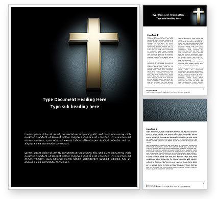 Religious/Spiritual: Cross In The Dark Word Template #07291