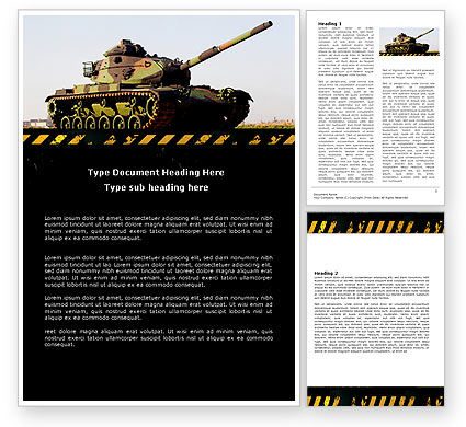 Tank Word Template, 07301, Military — PoweredTemplate.com