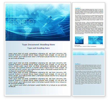 Air Communication Word Template, 07302, Cars/Transportation — PoweredTemplate.com