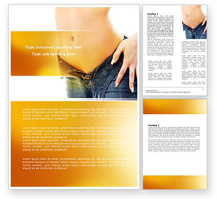 Slim Waist Word Template, 07303, Careers/Industry — PoweredTemplate.com