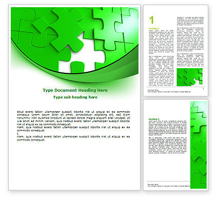 Consulting: Green Puzzel Word Template #07306