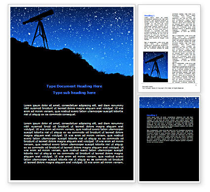 Education & Training: Stars Observation Word Template #07307
