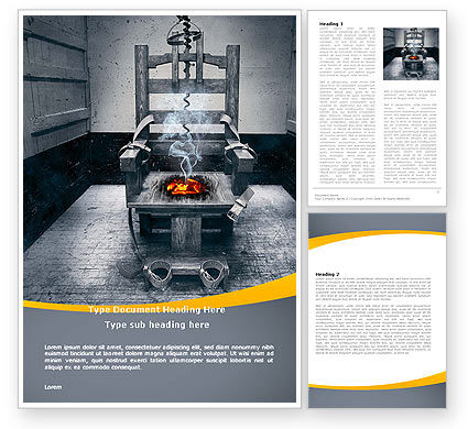 Electric Chair Word Template, 07311, Legal — PoweredTemplate.com