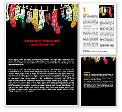 Socks Word Template, 07315, Education & Training — PoweredTemplate.com