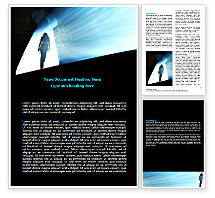 Leaving Woman Word Template, 07316, Consulting — PoweredTemplate.com