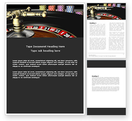 Roulette Word Template, 07325, Careers/Industry — PoweredTemplate.com