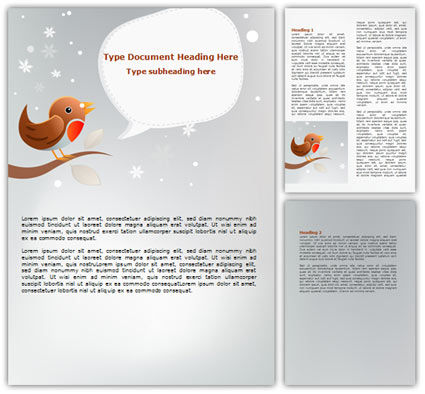 Twitter Word Template, 07328, Holiday/Special Occasion — PoweredTemplate.com