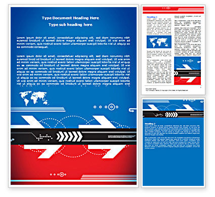 Directions of World Tendencies Word Template, 07333, Business — PoweredTemplate.com