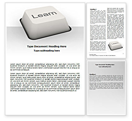 Learn button word template 07335 for Button template for word