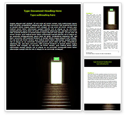Consulting: Exit Door Word Template #07342