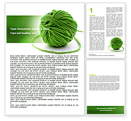 Green Thread Clew Word Template, 07346, Business Concepts — PoweredTemplate.com