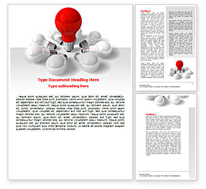 Consulting: Red Bulb Word Template #07347