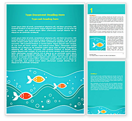 Education & Training: Fish Theme Word Template #07349