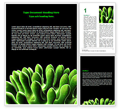 Virus Green Word Template, 07353, Technology, Science & Computers — PoweredTemplate.com