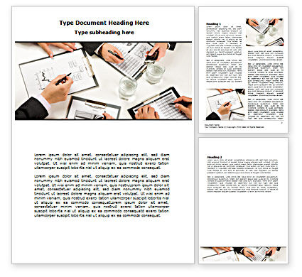 Business: Team Discussion Word Template #07354