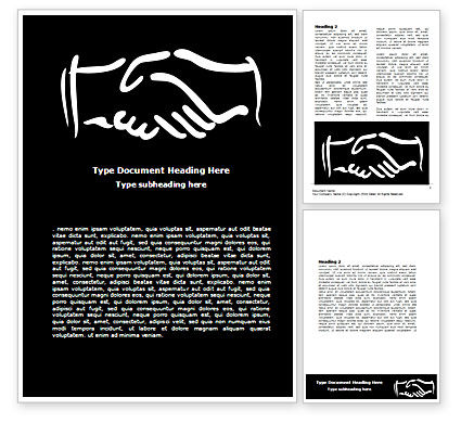 Business: Schematic View Of A Handshake Word Template #07356