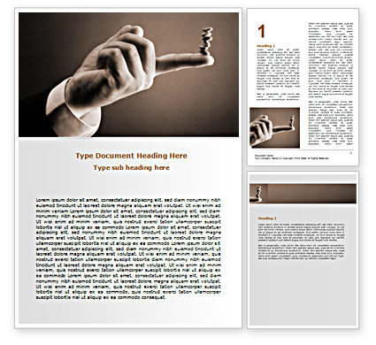 Holding Balance Word Template, 07359, Business — PoweredTemplate.com