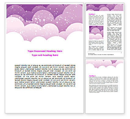 Abstract/Textures: Lilac Clouds Word Template #07360