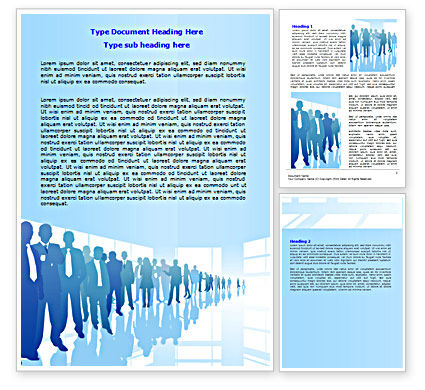 Business: Business Recruitment Word Template #07361