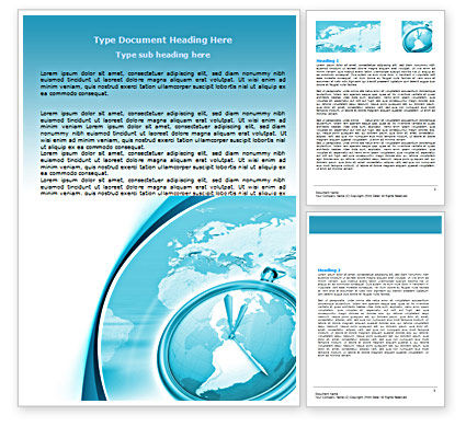 Global: Clock Aqua Word Template #07369