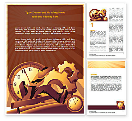 Business Rush Hour Word Template, 07370, Consulting — PoweredTemplate.com